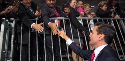 Peña Nieto durante un acto con servidores públicos este jueves