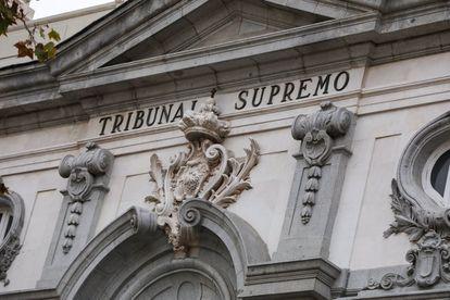 Fachada del Tribunal Supremo en Madrid, en una imagen de archivo.