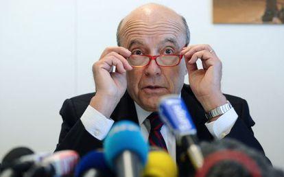 Alain Juppé, durante su conferencia de prensa este jueves en Burdeos.