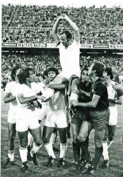 Gallego en su homenaje.