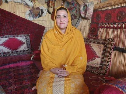 Fereshta Amini, exdiputada por Nimruz, durante la entrevista celebrada el pasado jueves en la casa en la que se esconde.
