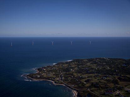 El parque eólico Block Island, en Estados Unidos. Eric Thayer / Bloomberg