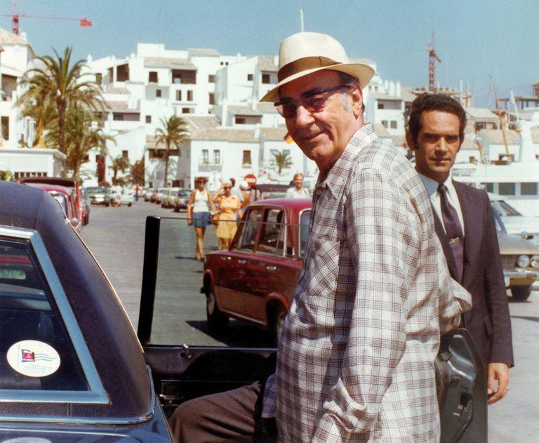 El empresario, constructor y promotor de viviendas, José Banús, en Marbella en 1984.