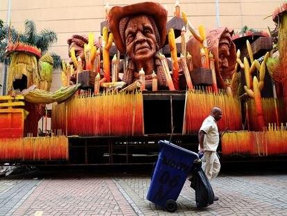La ciudad de la Samba, en Río de Janeiro, vacía por la pandemia.