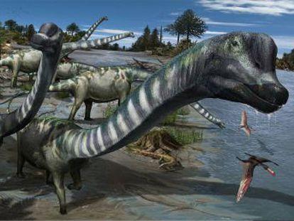 El  Europatitan eastwoodi  es un saurópodo de 25 metros de largo y 35 toneladas que vivió hace 125 millones de años en lo que hoy es la provincia de Burgos