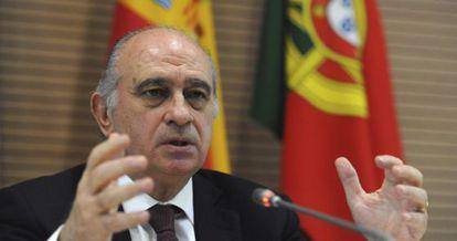 El ministro del Interior, Jorge Fernández Díaz, el 25 de enero en Marruecos.
