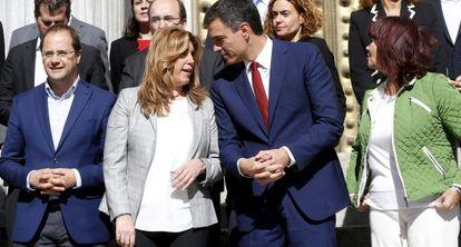 Susana Díaz y Pedro Sánchez, a finales de octubre en Madrid.