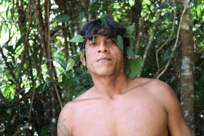 Tainaky Tenetehar, miembro de la Tierra Indígena Arariboia, en Maranhão.