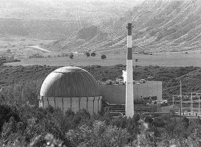 La central nuclear de Zorita (Guadalajara), fotografiada en 1994.