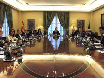 Rajoy preside el Consejo de Ministros el 23 de diciembre pasado.