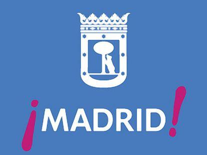 La marca utilizada desde hace años por el Ayuntamiento tiene la palabra Madrid entre signos de admiración en un llamativo color fucsia. Cuando se usa de manera institucional lleva por encima el escudo de la capital con el oso y el madroño.