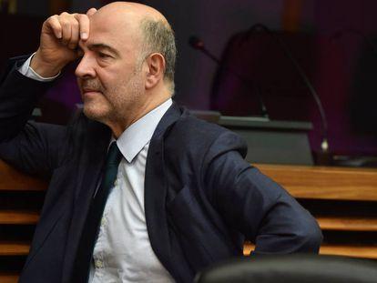El comisario de Asuntos Económicos, Pierre Moscovici, en Bruselas este miércoles.