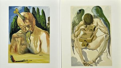 Ilustracción del Infierno y del Purgatorio que Dalí hizo para 'La Divina Comedia' de Dante. / Salvador Dalí. Fundación Gala-Salvador Dalí / Vegap 2021.