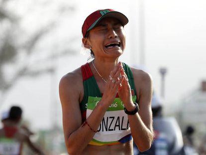 González, tras ganar la plata en los Juegos Olímpicos de 2016.