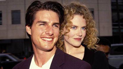 Nicole Kidman y Tom Cruise cuando eran pareja.