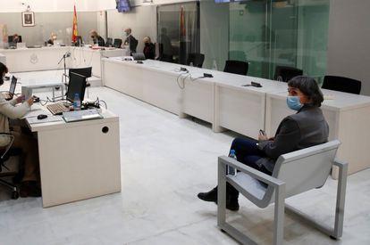 Soledad Iparraguirre, 'Anboto', exdirigente de ETA, durante el juicio celebrado en la Audiencia Nacional el pasado 10 de marzo.