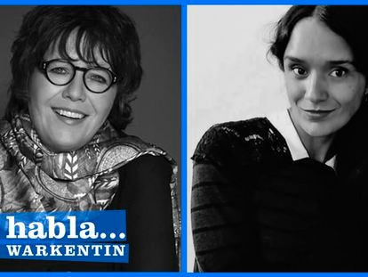 La periodista Gabriela Warkentin y la escritora Alma Delia Murillo