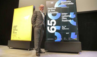 José Luis Rebordinos, director del festival de cine de San Sebastián presenta los carteles en Tabakalera.