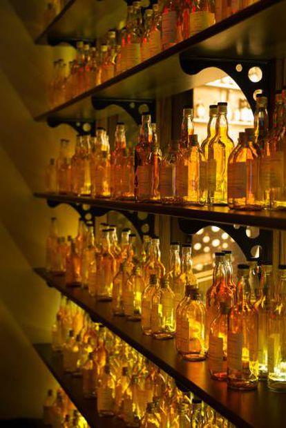 Cuarto de mezclas de la factoría Aberfeldy.