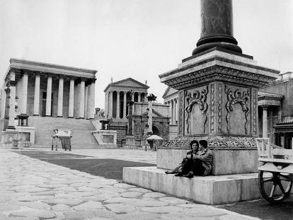 Decorado de la película 'Cleopatra' (1963) de Joseph L. Mankiewicz en Cinecittà, Roma.
