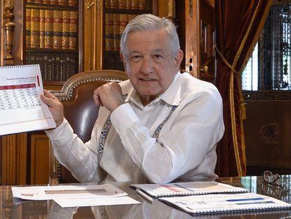El presidente mexicano López Obrador, durante un mensaje difundido el pasado fin de semana.