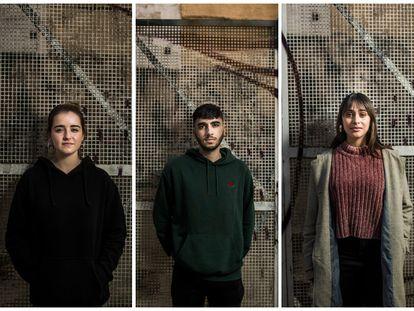 Carlota García, Javier Tardío y Selene Fresneda todos votarán por primera vez el 4M.