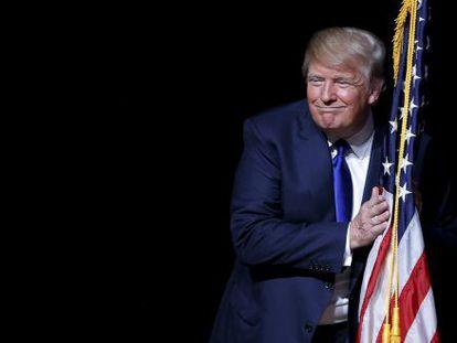 Donald Trump en un mitin en Derry (New Hampshire), el 19 de agosto de 2015.