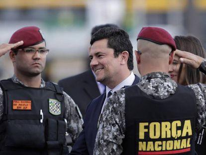 El ministro de Justicia, Sergio Moro, en Brasilia el pasado día 3.
