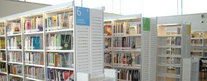 Imagen de la biblioteca pública Ángel González, en La Latina.
