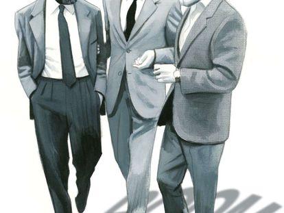 Guillermo Cabrera Infante, Carlos Fuentes y Gabriel García Márquez, vistos por Fernando Vicente.