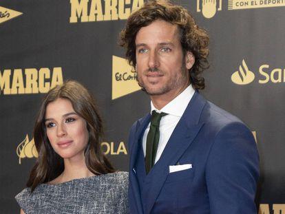 Feliciano Lopez y Sandra Gago, en una fiesta en Madrid en diciembre de 2018.