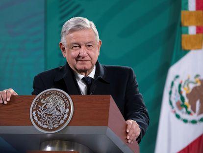 El presidente López Obrador en la conferencia de prensa este miércoles
