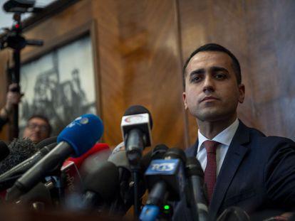 El vicepresidente del Gobierno italiano y líder del Movimiento 5 Estrellas (M5S), Luigi Di Maio, tras los resultados de las elecciones europeas de 2019.