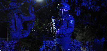 Un policía estatal de Veracruz durante un operativo