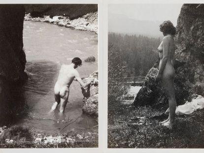 Laurence Olivier y Vivien Leigh, desnudos, durante su luna de miel en 1940, en unas fotos inéditas de la pareja.