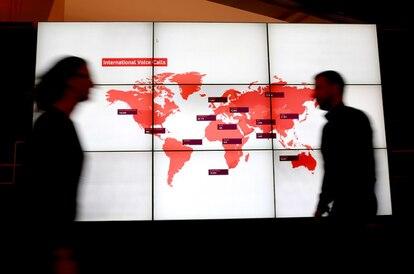 Centro de control de red de Vodafone en Reino Unido.