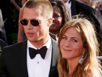 Brad Pitt y Jennifer Aniston en los Premios Emmy en 2004.