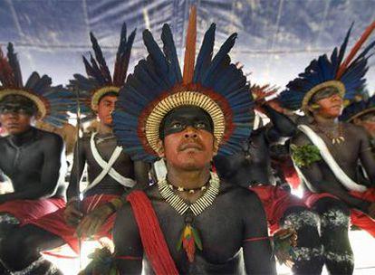 Indígenas en un encuentro sobre los derechos de los indios en Belém (Brasil) en enero pasado.