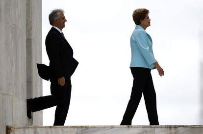 Dilma Rousseff y el presidente de Uruguay, Tabaré Vázquez.