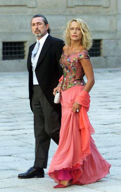 El cabecilla de la trama Gütel, Francisco Correa, durante la boda de la hija del expresidente del Gobierno José María Aznar (PP).