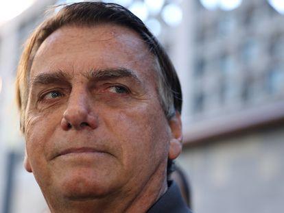 Jair Bolsonaro en São Paulo, el pasado 18 de julio.