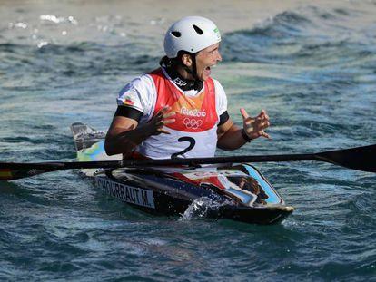 Maialen Chourraut, tras ganar el oro. Foto: GETTY
