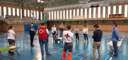 Pabellón Cortes de Aragón de Fraga, que acoge a pacientes que no pueden cumplir el aislamiento en sus hogares.  AYUNTAMIENTO DE FRAGA 30/05/2020