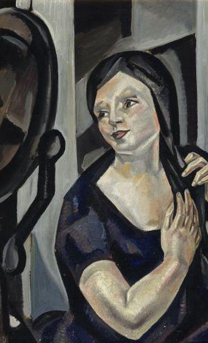 'Mujer peinandose', obra de María Blanchard.
