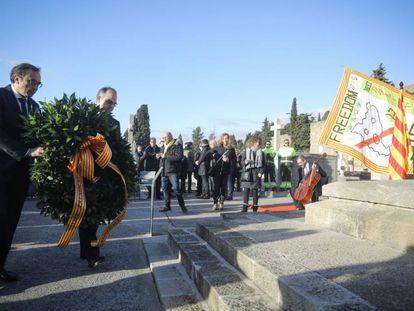 Jordi Turull y Josep Rull en un acto de homenaje a Francesc Macià el pasado mayo.