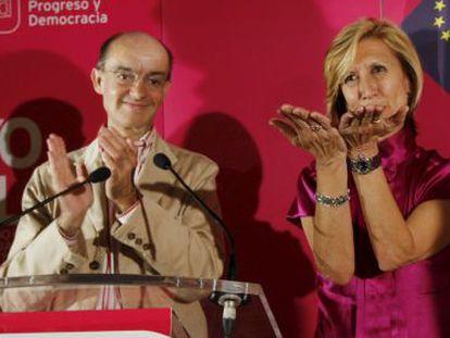 Fernando Maura y Rosa Díez, en una foto de archivo.
