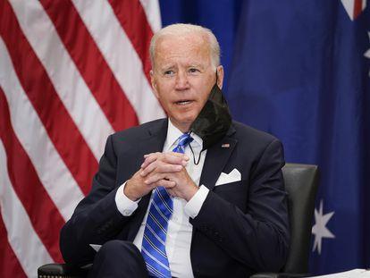 El presidente de Estados Unidos, Joe Biden, en un encuentro durante la Asamblea General de la ONU, este martes, en Nueva York.
