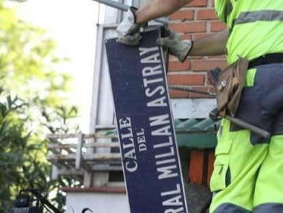 El TSJM obliga al Ayuntamiento de Madrid a mantener la calle General Millán Astray en el callejero de Madrid.