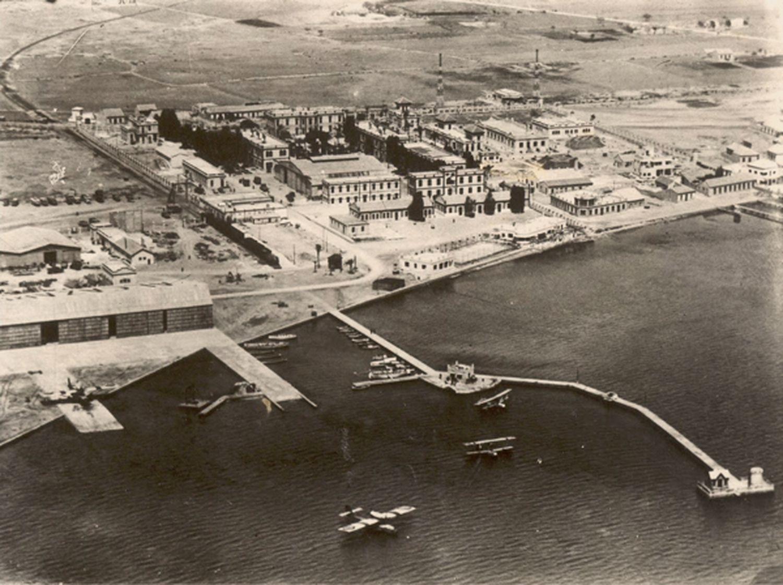 Vista aérea del aeródromo de Los Alcázares (Murcia) en mayo de 1937.