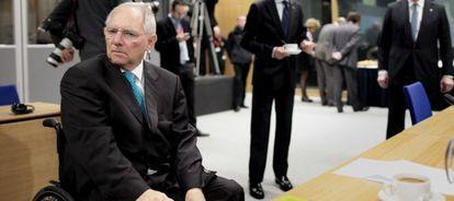 El ministro de Finanzas alemán, Wolfgang Schäuble, en la reunión del Ecofin en Dublín.